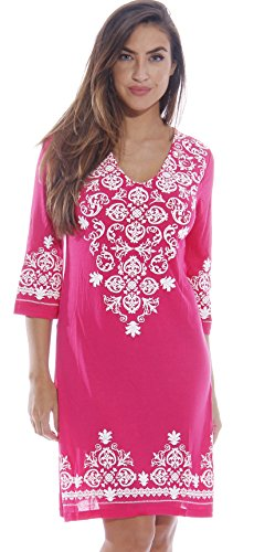 1883-Pink-1X Just Love Swimsuit Cover Up / Summer Dresses / Resort Wear