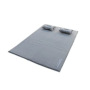 Geertop 2 Person Self Inflating Camp Pad Mat Mattress With Pillows For Camping, Backpacking, Tents Jeanette PVC