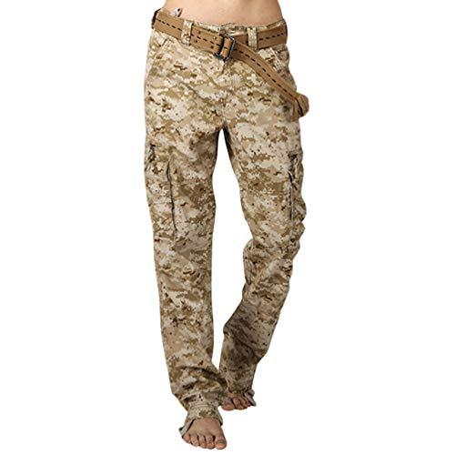 Camo Uomo Con Nessuna Pantalone Pantaloni Cargo Cintura Larghi Vintage Tasconi Come Xinwcang Militare Immagine5 0xUwwS