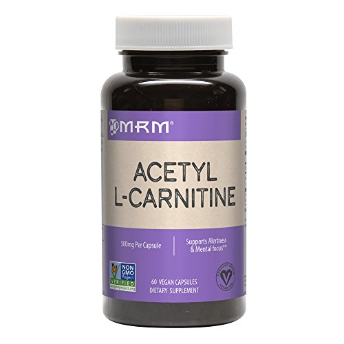 MRM Acetyl L-carnitine 500mg Per Capsule, 60-Count