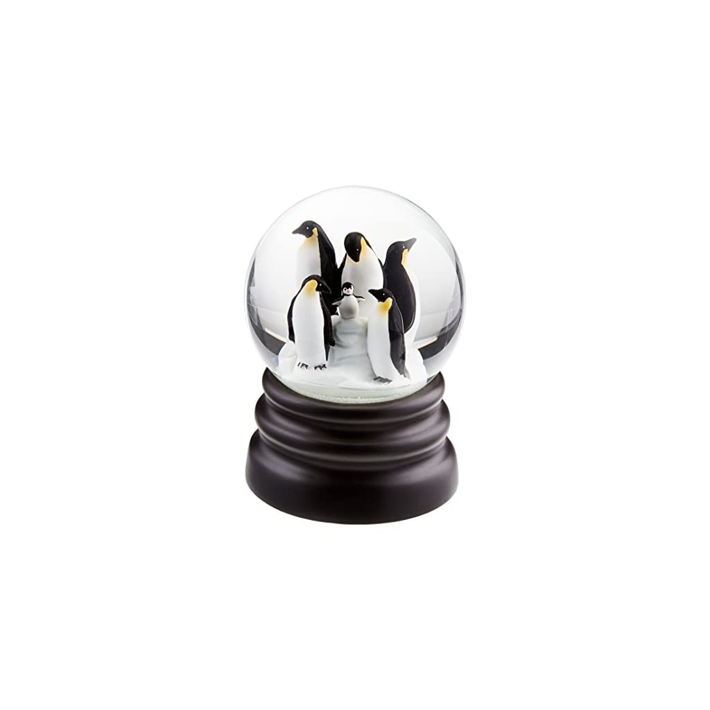 WHAT ON EARTH Musical Snow Globe – Adorable Penguins – Plays Let It Snow