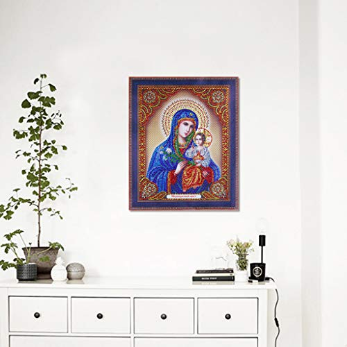DIY 5D Diamond Painting Religious Partial Drill Rhinestone Embroidery Dotz Cross Stitch by Number Kit Home Wall Decor for Adults Kids Beginner (A) by Codiak-Decor (Image #1)