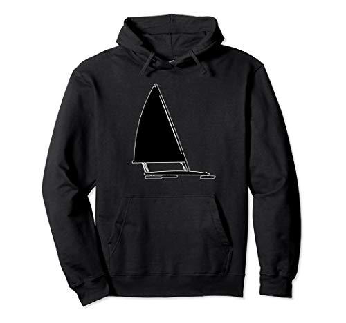 Ice Yachting Hoodie Ice Boat Pilot Hooded Sweatshirt (Skeeter Sweatshirt)