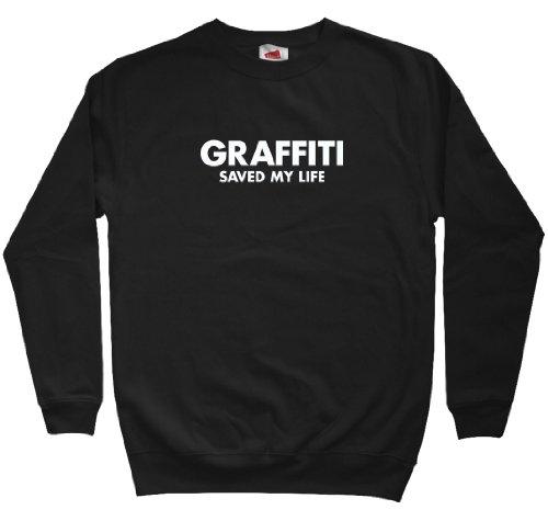 Smash Vintage Men's Graffiti Saved My Life Sweatshirt - Black, X-Large