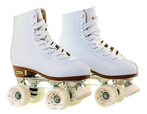 Chicago Women's Leather Lined Rink Roller Skate (Size 8) (White)