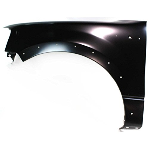 (Evan-Fischer EVA16972023436 Fender for Ford F-150 04-08 LH W/Wheel Opening Molding Holes Front Left Side)