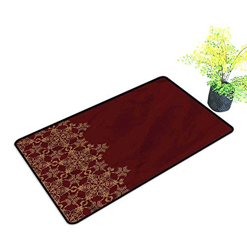 Door mat Outdoor Patio Burgundy,Winter Christmas Inspired for Entrance Indoor/Outdoor,H23xW35 inch (Covers Patio Houzz)
