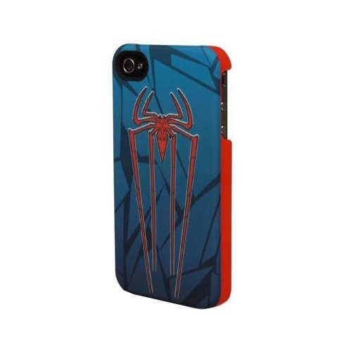 Performance Designed Products IP-1633 Amazing Spider-Man Emblem Clip Case for iPhone 4/4S - Face Plate - Retail Packaging - Multi Color
