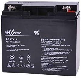 MaxPower - Batería de Movilidad 12V 17Ah Agm Para silla de ruedas eléctrica. Bateria de ciclo profundo de gel. Pila recargable