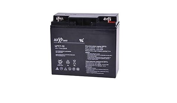 MaxPower - Batería de Movilidad 12V 17Ah Agm Para silla de ruedas eléctrica. Bateria de ciclo profundo de gel. Pila recargable: Amazon.es: Bricolaje y ...