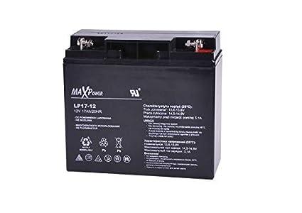 MaxPower - Batería de Movilidad 12V 17Ah Agm Para silla de ruedas eléctrica. Bateria de