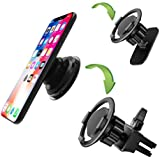 sunshot Car Air Vent Clip Mount Compatible with Pop Socket Grips, Rotatable Cell Phone Car Holder Works All Cell Phone Pop Socket Grips (2pack)