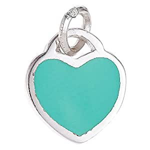 Aurora Women's Heart Pendants - Silver