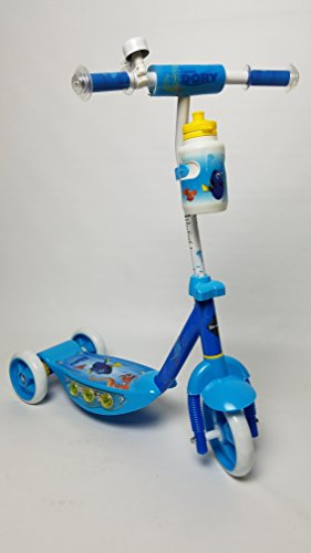 New 2016 Disney Pixar FINDING DORY 3 Wheel Scooter with Light-Up Deck, Matching Water Bottle, and Handlebar Bell & Pad - for Chidlren 3 Years and Up - by Disney - HUFFY 38576