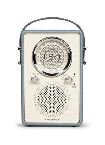 Crosley Songbird II FM Radio Bluetooth CR3034A AUX Input (Grey) by Crosley