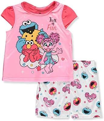Sesame Street Girls' Toddler 2-Piece Pajama Set
