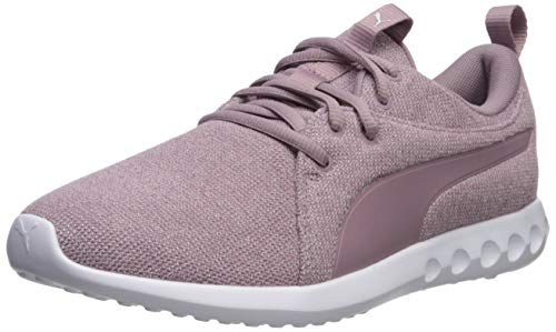 PUMA Women's Carson 2 Sneaker, elderberry-puma whit, 7 M US
