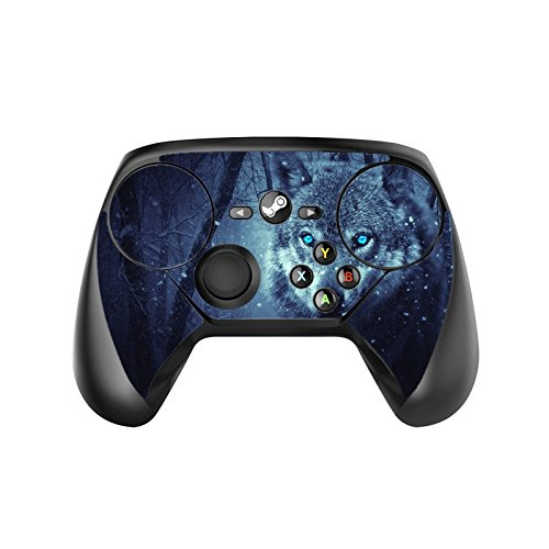 Blue Eyes Wolf Wolves in the Snow Steam Controller Vinyl Decal Sticker Skin by Moonlight Printing