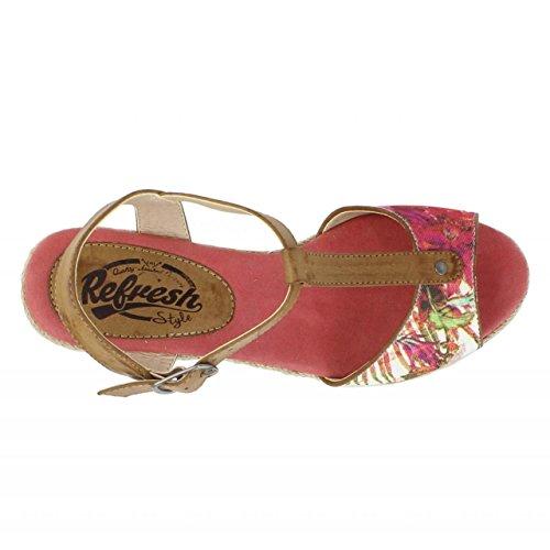 Zapatos de cuña de Mujer REFRESH 61863 TEXF CORAL