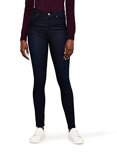 MERAKI Jean Skinny Taille Haute Femme Bleu (Indigo Rinse)