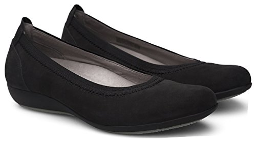 Slip Flats Black on Milled Nubuck Women's Kristen Dansko IHqZEZ