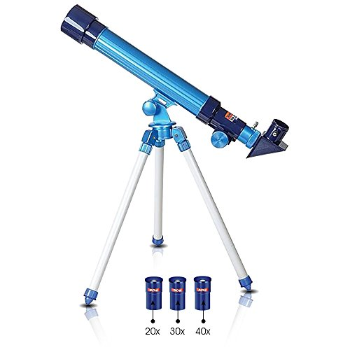 Kids Telescope - Telescope for Kids by ArtCreativity | Set Includes 3 Magnification Lenses, Diagonal Mirror, & Tripod Stand | Easy To Focus | Great Children's Educational Science Kids Microscope Toy for Boys and Girls