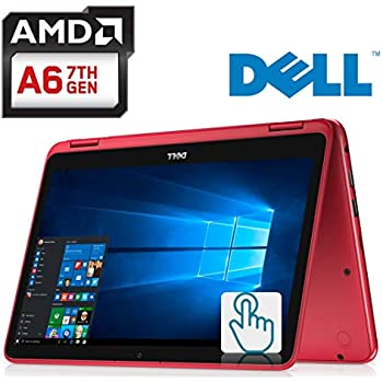 Dell Inspiron 11.6-inch 2-in-1 Touchscreen Laptop PC AMD A6-9220e up to 2.4GHz Processor, 4GB DDR4, 32GB eMMC, MaxxAudio, HDMI, Bluetooth, Webcam, WiFi, ...