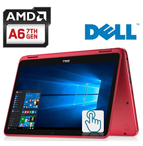 Dell Inspiron 11.6-inch 2-in-1 Touchscreen Laptop PC AMD A6-9220e up to 2.4GHz Processor, 4GB DDR4, 32GB eMMC, MaxxAudio, HDMI, Bluetooth, Webcam, WiFi, Windows 10, Customize Color SD Size -  Dell Computers