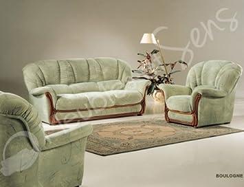 boulogne canap rustique classique tissus et bois - Canape Rustique