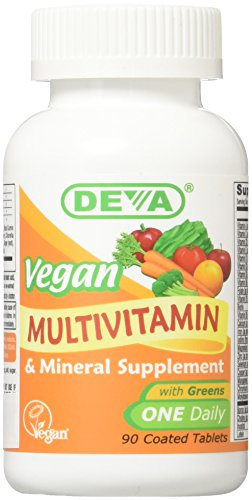 Deva Nutrition Vegan Vitamins Daily Multivitamin & Mineral Tablets (Pack of 2)