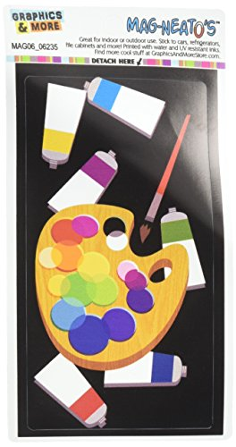 Graphics and More Painters Palette Black Artist Painting Mag-Neato's Automotive Car Refrigerator Locker Vinyl - Magnet Palette Artists