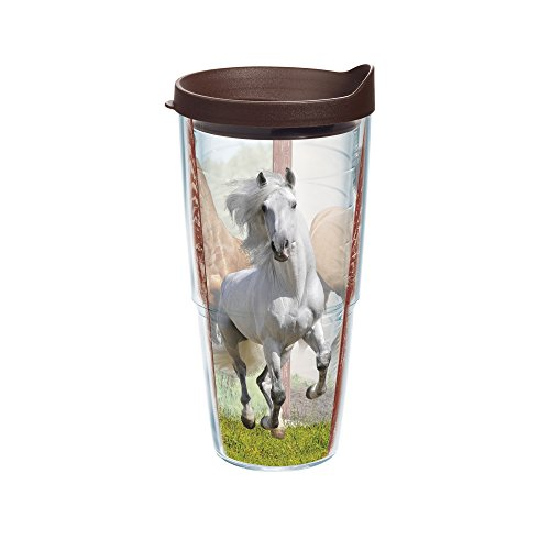 Tervis Horse Tumbler with Travel Lid, 24 oz, Clear