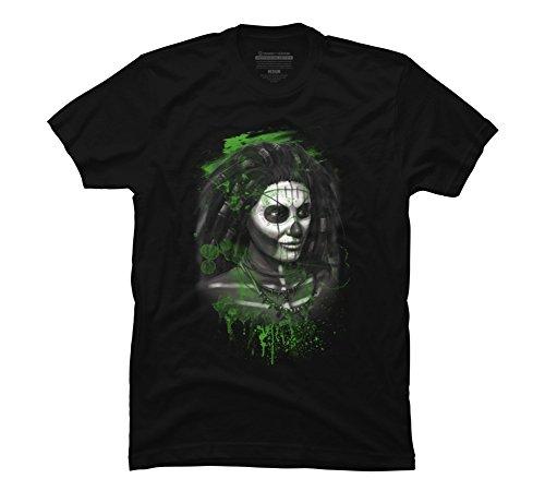 VooDoo Magic Men's 5X-Large Black Graphic T Shirt - Design By (Voo Doo Mask)