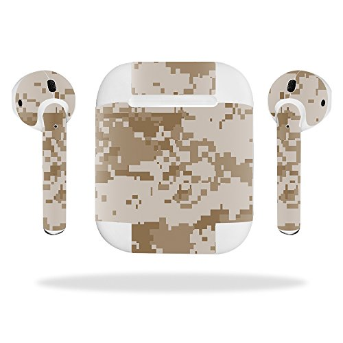 Mightyskins Skin for Apple Airpods, Desert Camo, Protective, Durable, and Unique Vinyl Decal Wrap Cover, 0.01 Pound ()