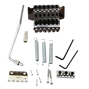 musiclily double locking tremolo guitar bridge assembly system electric guitar parts. Black Bedroom Furniture Sets. Home Design Ideas