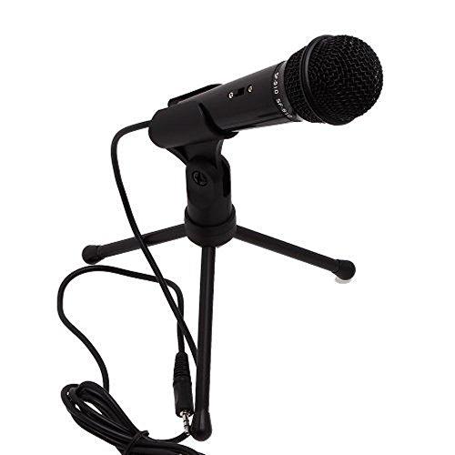 TEMO Stereoscopic Condenser Sound Microphone 3.5mm Studio wi
