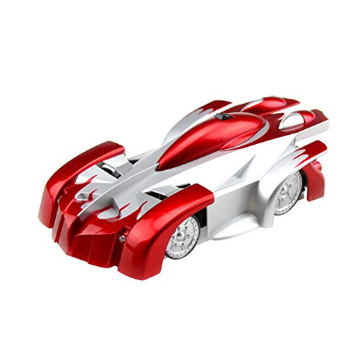 Shuohu Electric Remote Control Toy Climbing Car 360° Rotating LED USB Dual Mode Stunt Wall Climbing Remote Control Car Kids Toys Red ()