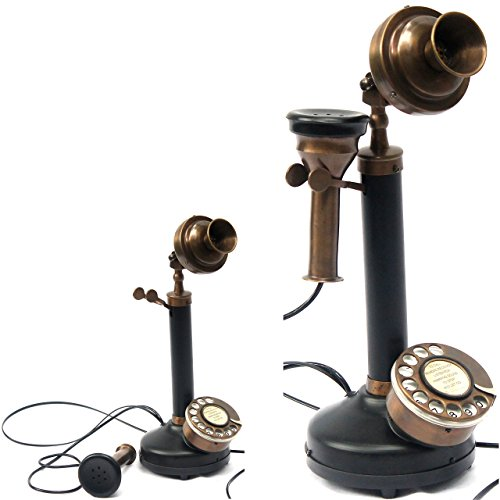 Contemporary Style Table Decorative Authentic Model Candle Phone Black ()