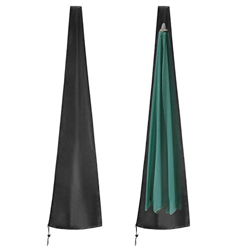 ieGeek Outdoor Umbrella Covers, Waterproof Parasol Umbrella Storage Bag with Zipper, Suitable for 7-11ft Courtyard Umbrellas by ieGeek