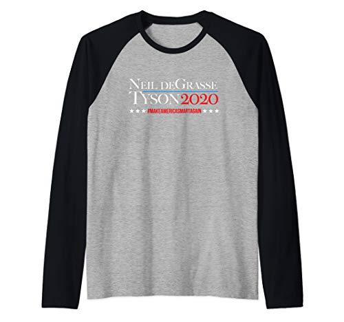 Make America Smart Again Neil deGrasse Tyson 2020 Hashtag  Raglan Baseball Tee