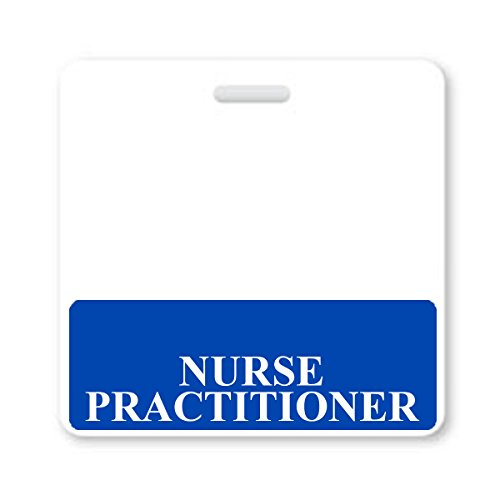 """NURSE PRACTITIONER"" Horizontal Badge Buddy with Blue Border from Specialist ID, Sold Individually"
