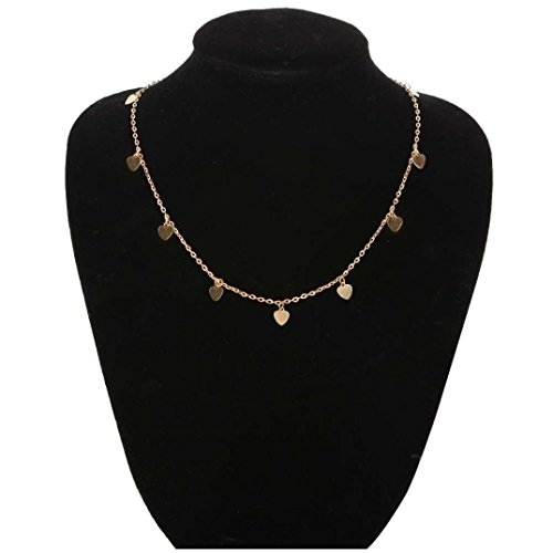 Popular Necklaces,RTYou New Simple Women Girls Chocker Gold Chain Star Choker Necklace Jewelry Gifts (C)