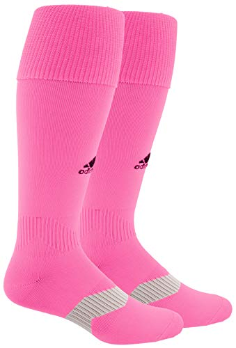 adidas Unisex Metro IV OTC Soccer Sock (1-Pair), Ultra Pop/Black/Clear Grey, 9C-1Y