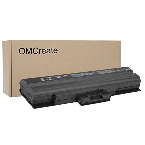 OMCreate Laptop Battery for Sony Vaio VGN VGP-BPS21A , VGP-BPS13B/Q , VGP-BPS13/B , VGP-BPS13B/B , VGP-BPS13 , VGP-BPS13A , VGP-BPL13 - 12 Months Warranty [Li-ion 6-Cell] - Sony Vaio Battery Bps13
