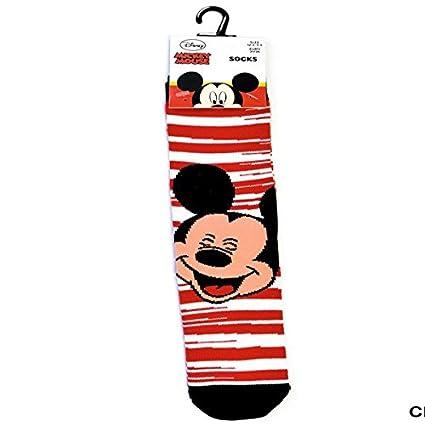 Disney - Mickey Mouse - Calcetines - Rojo / blanco - 31/36
