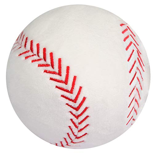 CatchStar Toy Baseball Plush Fluffy Stuffed Sports Ball Soft Durable Sports Toy Gift for Kids White 4