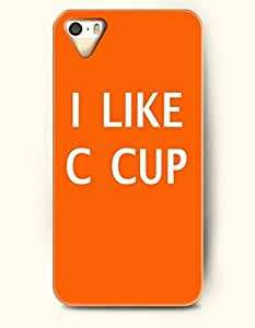 I Like C Cup - Word From Heart - iPhone 5 / 5s Hard Back Plastic Orange