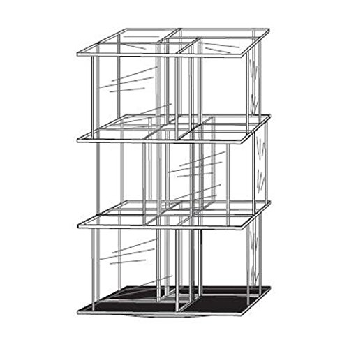 Acrylic 12 Pocket CD Tower For Counter Tops - Holds 96 CDs - 9 1/2''W x 9 1/2''D x 17''H