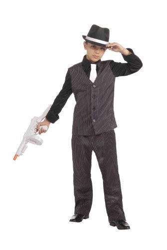 Mobster Costumes Halloween Baby (Forum Novelties 20's Lil' Gangster Child Costume,)