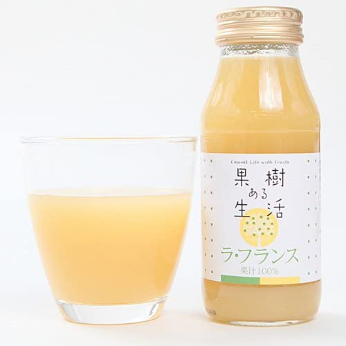 果樹ある生活 ラ・フランス(果汁100%) 180ml×6本